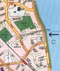 Sandymount map